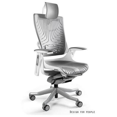 Fotel ergonomiczny biały wau 2 elastomer - szary- zadzwoń 692 474 000 - otrzymasz rabat! marki Unique