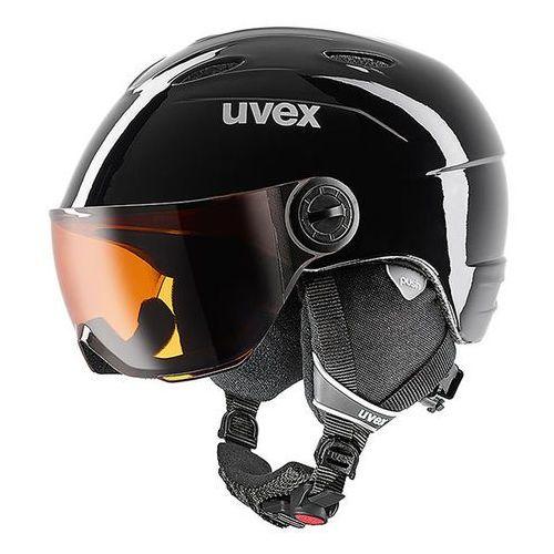 Kask narciarski dziecięcy z wizjerem Uvex Junior visor czarny, kup u jednego z partnerów