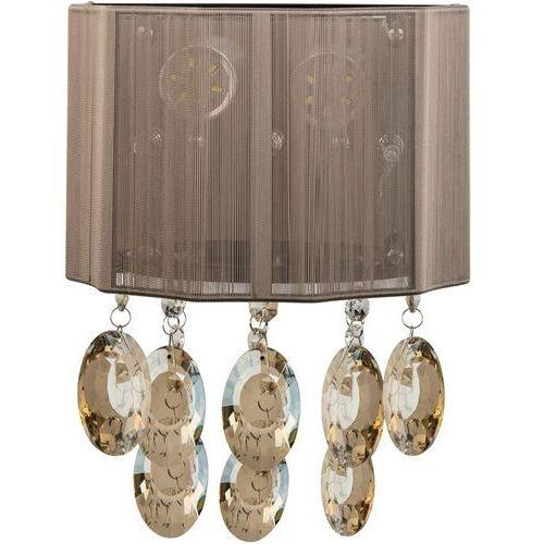 Kinkiet LED brązowy klosz i kryształy MW-LIGHT Elegance (465022805)
