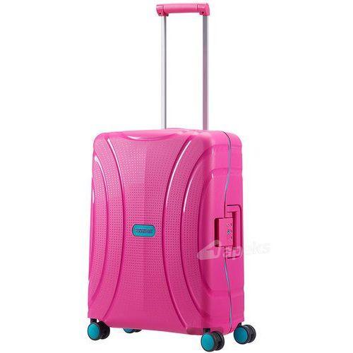 American tourister lock'n'roll mała walizka kabinowa 20/55 cm / różowa - summer pink