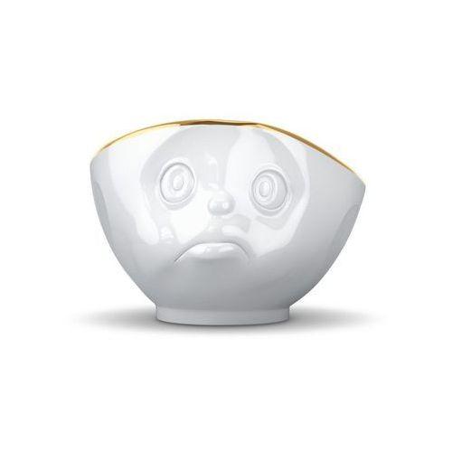 - miseczka - zadąsana buźka - biała ze złotym brzegiem - 500 ml marki 58products