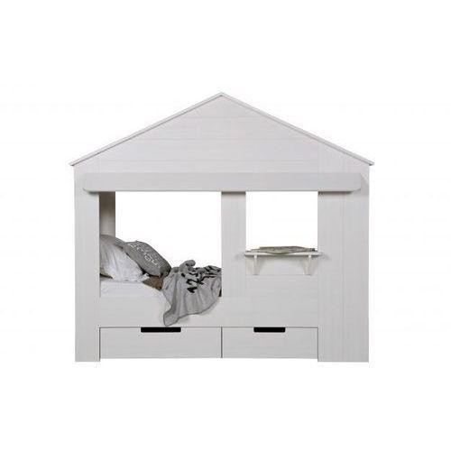 WOOOD:: Łóżko w kształcie domku Huisie białe