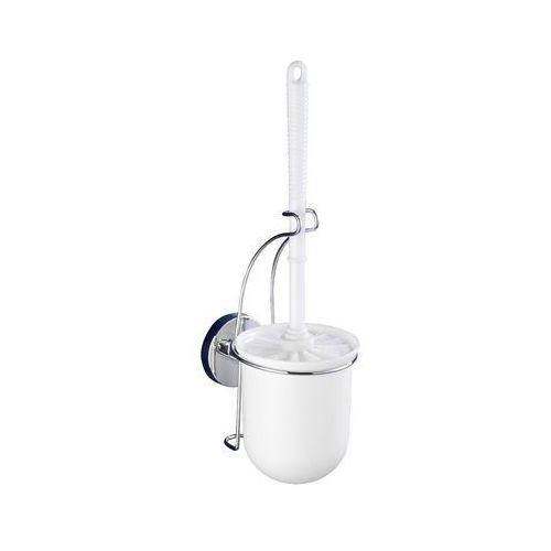 Pojemnik na szczotkę MILAZZO + szczotka WC,Vacuum-Loc - stal chromowana, WENKO
