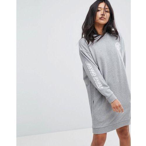 Santa Cruz Sweat Dress With Arm Print - Grey