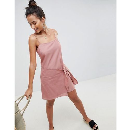 b78f4dd458 Suknie i sukienki · square neck wrap front mini sundress - pink marki Asos  design