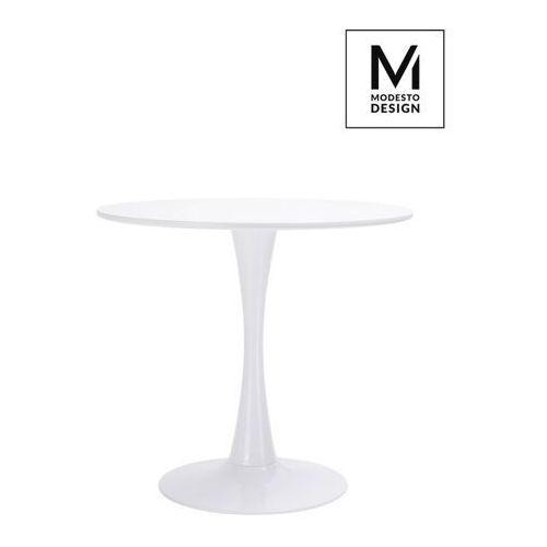 Sofa.pl Modesto stół tulip fi 80 biały - mdf, podstawa metalowa