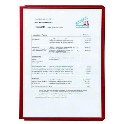 Tablice przezroczyste z ramą profilowaną, do din a4, opak. 10 szt., czerwony, od marki Durable