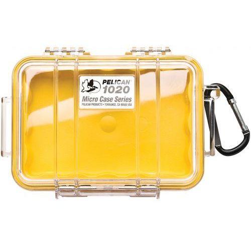 Peli  1020 mikro skrzynia / żółta-przeźroczysta