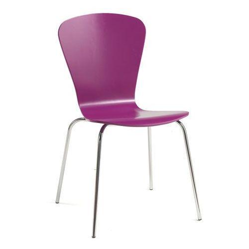 Krzesło do stołówki MILLA, sztaplowane, fioletowy, 136765