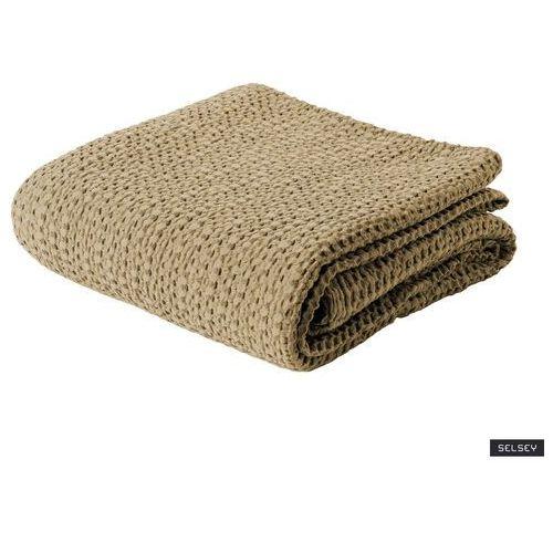 SELSEY Narzuta na łóżko Alpinia bawełniana beżowa (5903025481609)