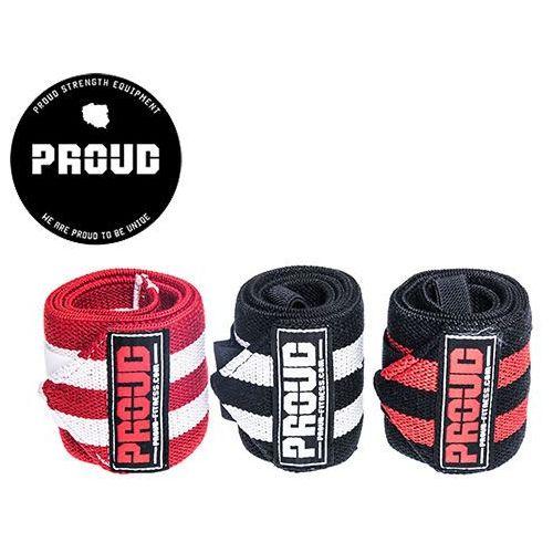 Usztywniacze nadgarstków wrist wraps 60cm - red / white marki Proud