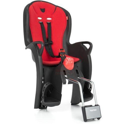 Hamax Fotelik rowerowy sleepy czarny, czerwona wyściółka (7029775515017)