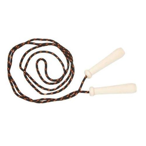 Akson - Skakanka sznurkowa z drewnianymi rączkami - 2 m - czarna
