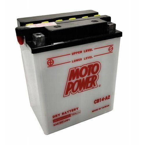 Akumulator motocyklowy Moto Power CB14-A2 YB14-A2 12V 14Ah 190A EN L+