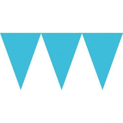Baner papierowy 450 cm błękitny/turkusowy, 5_613138