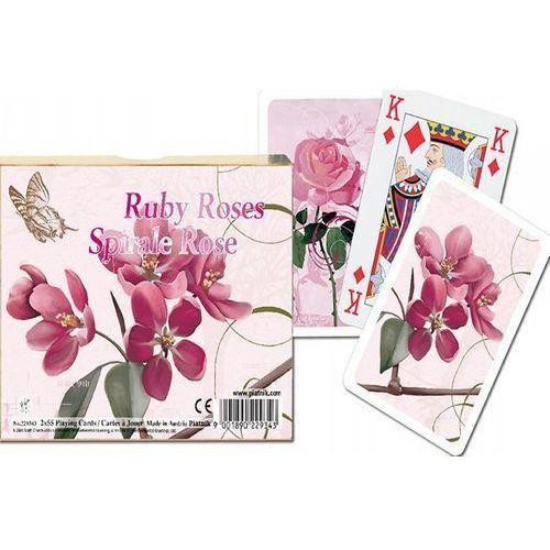 Karty do gry 2 talie, rubinowe róże marki Piatnik