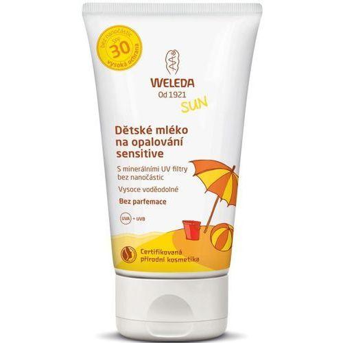Mleczko na słońce dla dzieci z szarotką lsf 30 sensitiv marki Weleda