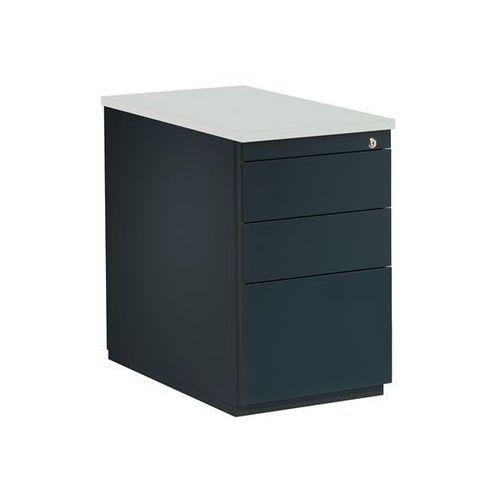 Kontener szufladowy, wys. x głęb. 720x800 mm, 2 szuflady na dokumenty, 1 kartote marki Mauser