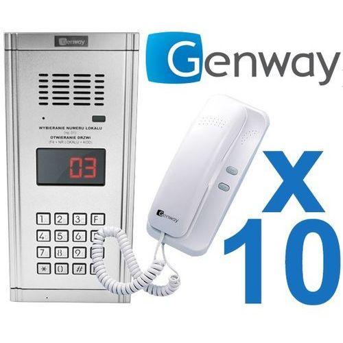 Zestaw domofonowy 10 rodzinny wl-03nl marki Genway