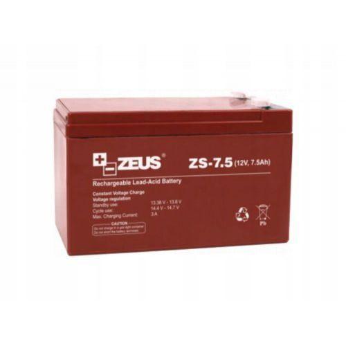 Akumulator 12v 7,5ah do alarmu buforowy ppoż bezobsługowy agm zs-7.5 marki Zeus