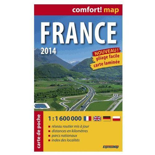 ExpressMap Francja Mapa Laminowana 1:1 600 000