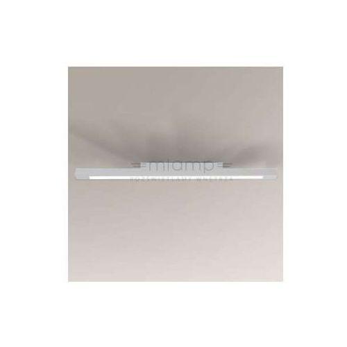 Plafon lampa sufitowa otaru 1200/g5/bi prostokątna oprawa natynkowa listwa metalowa biała marki Shilo