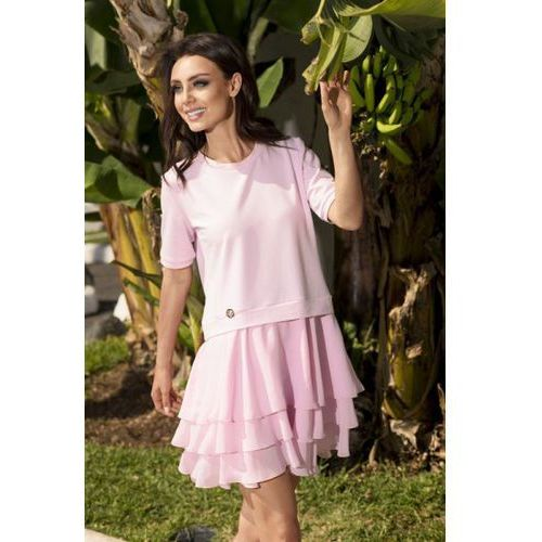 Sukienka model l244 powder pink, Lemoniade