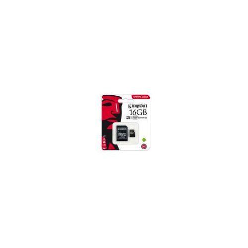 Karta pamięci canvas select microsdhc 16gb class 10 uhs-i u1 - 80mb/s + adapter sd marki Kingston