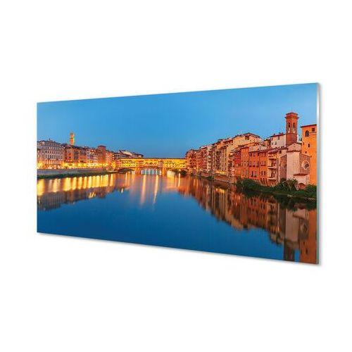 Obrazy akrylowe Włochy Rzeka mosty budynki noc