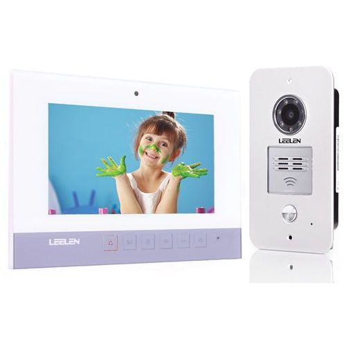 Wideodomofon - 7cali n75b/no15pc+3xbrelok (z czytnikiem) marki Leelen technology