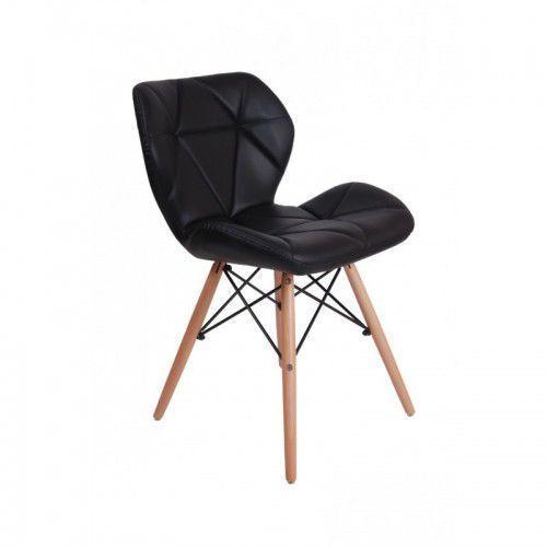 Krzesło tapicerowane MURET - czarny