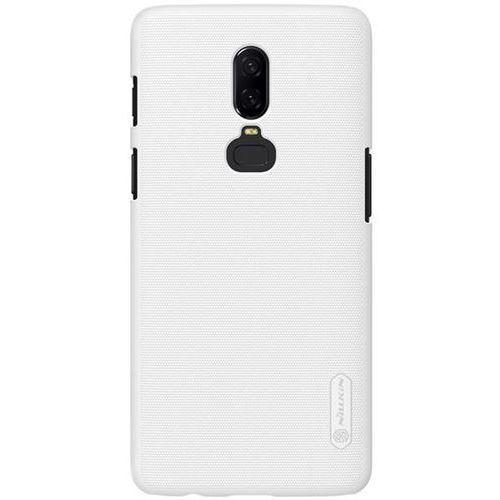 Etui Nillkin Frosted Shield OnePlus 6 - White - White, kolor biały