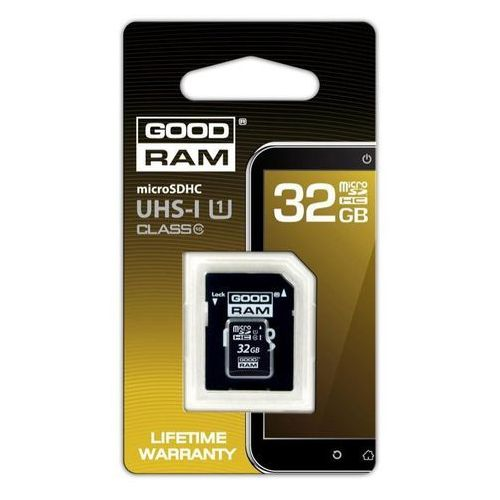 Goodram Karta pamięci mikro sd 32gb class10 + adapter