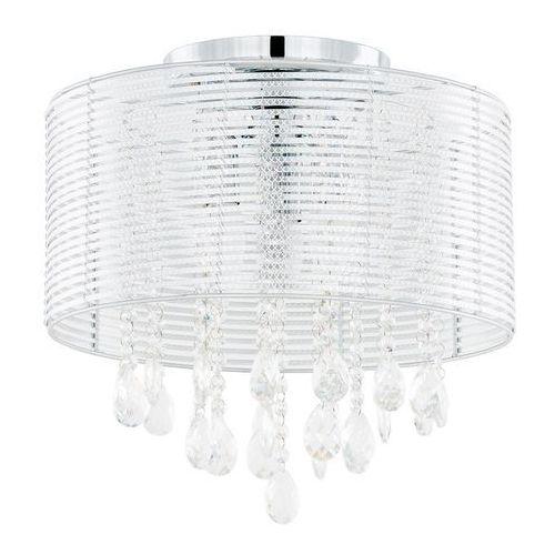 Plafon LAMPA sufitowa FELLA MXM2130/3 SL Italux abażurowa OPRAWA kryształowa glamour crystal srebrny