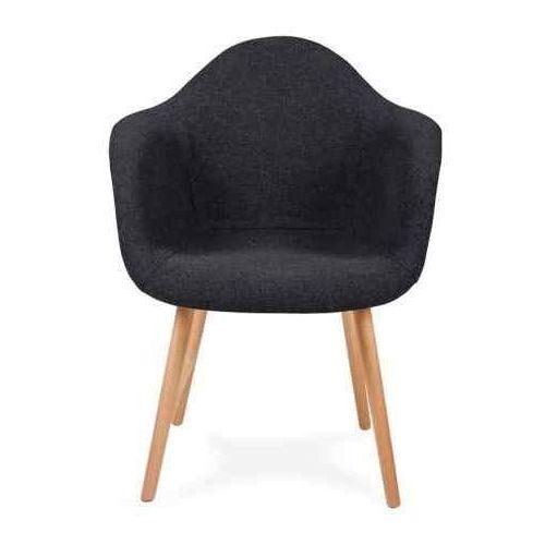 Fotel PLUSH grafitowy - podstawa bukowa, KH-0022