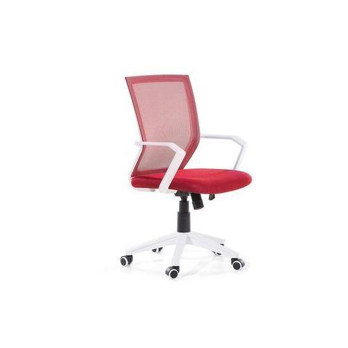 Krzesło biurowe czerwone regulowane na wysokości RELIEF