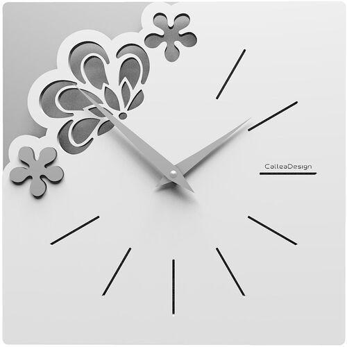 Kwadratowy zegar na ścianę Merletto CalleaDesign oliwkowo-zielony (56-10-1-54)