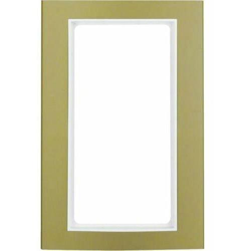 BERKER B.3 Ramka z dużym wycięciem, alu, złoty/biały 13093046, kolor złoty