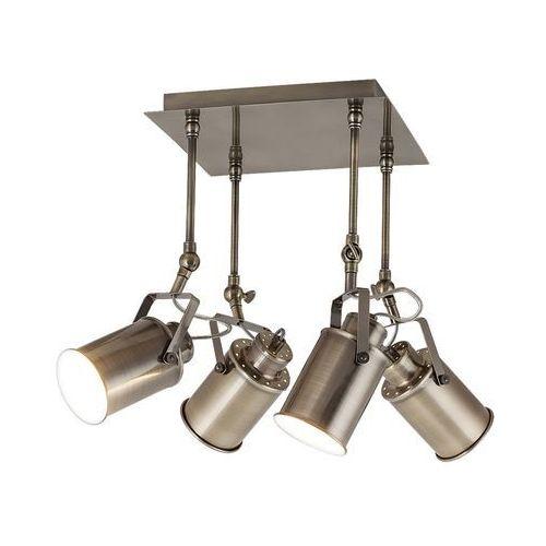 Plafon lampa sufitowa spot Rabalux Peter 4x60W E27 antyczny brąz 5984, 5984