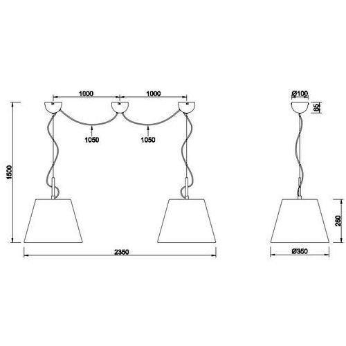 Trio Lampa wisząca andreus 307500289 abażurowa oprawa loftowy zwis biały