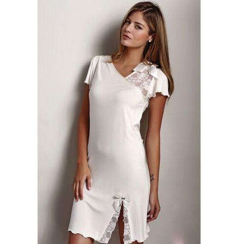 Bambusowa koszula nocna damska zara kremowy xl marki Luisa moretti