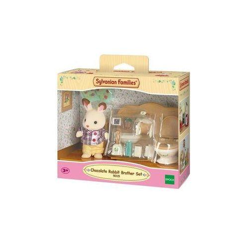 Sylvanian Families Chocolate Rabbit Brother Set -Washroom (5054131050156)