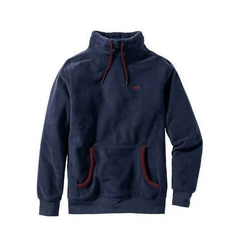 Bluza z polaru z kapturem Regular Fit bonprix ciemnoniebieski