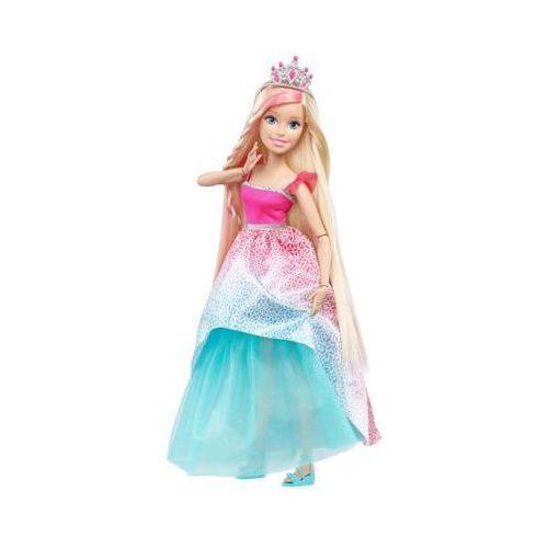 dkr09 różowo niebieska długowłosa księżniczka blondynka lalka barbie 3+ marki Barbie