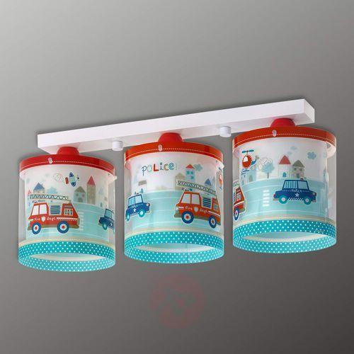 Klik 60613 - Lampa sufitowa dziecięca POLICE 3xE27/60W/230V (8420406606132)