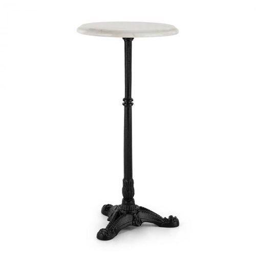 Blumfeldt patras-xs, stolik bistro marmurowy, blat ø30cm, żeliwna stopa (4060656110870)