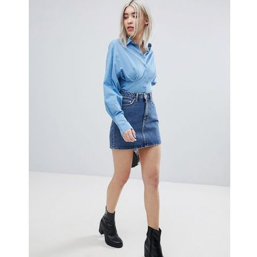 Weekday Denim Mini Skirt - Blue, kolor niebieski