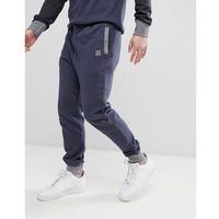 BOSS Contrast Tapered Sweat Joggers in Navy - Navy