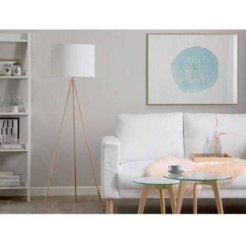 Lampa stojąca miedziano-biała 148 cm VISTULA