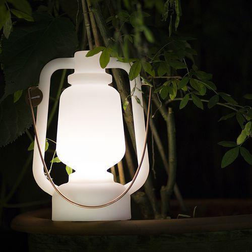 Qazqa Lampa stołowa storm biała